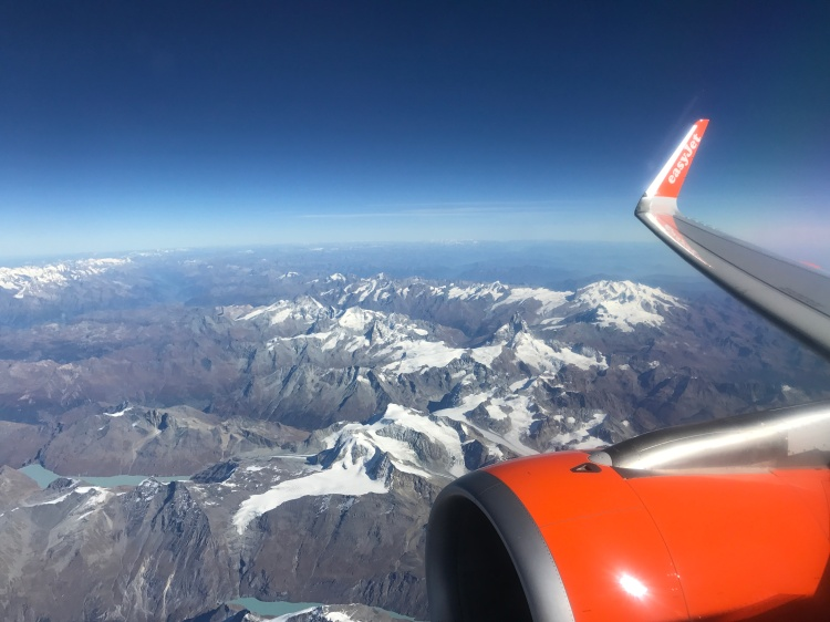 (1) View from plane Milan to London