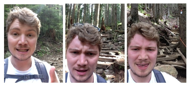(2) Hiking stages of exhaustion