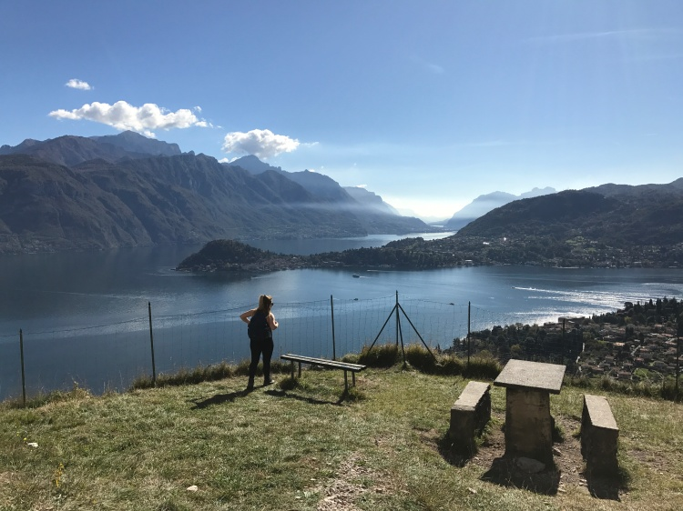 2 - Picture overlooking lake on hike