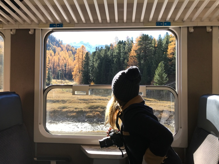 (6) Looking out the window from Bermina Express Train