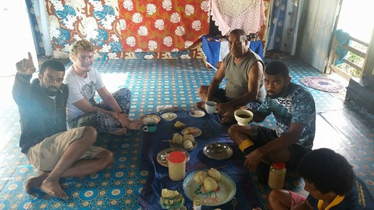 Me with Turaga and his family in Nolotu Village