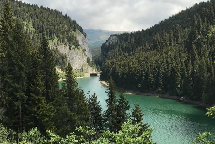 Mountain Lake outside of Sinaia